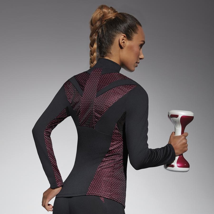 5b853bc4588f54 Damska sportowa koszulka BAS BLACK Inspire Blouse - Czarno-różowy.  Funkcjonalna ...