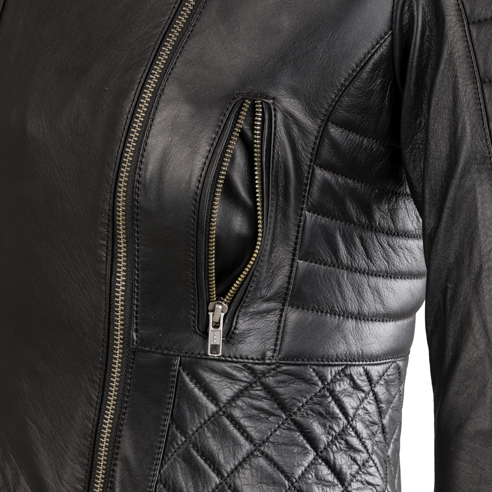 Damska skórzana kurtka motocyklowa W TEC Corallia + Prezent za 1 zł: Plecak sportowy worek inSPORTline Bolsier