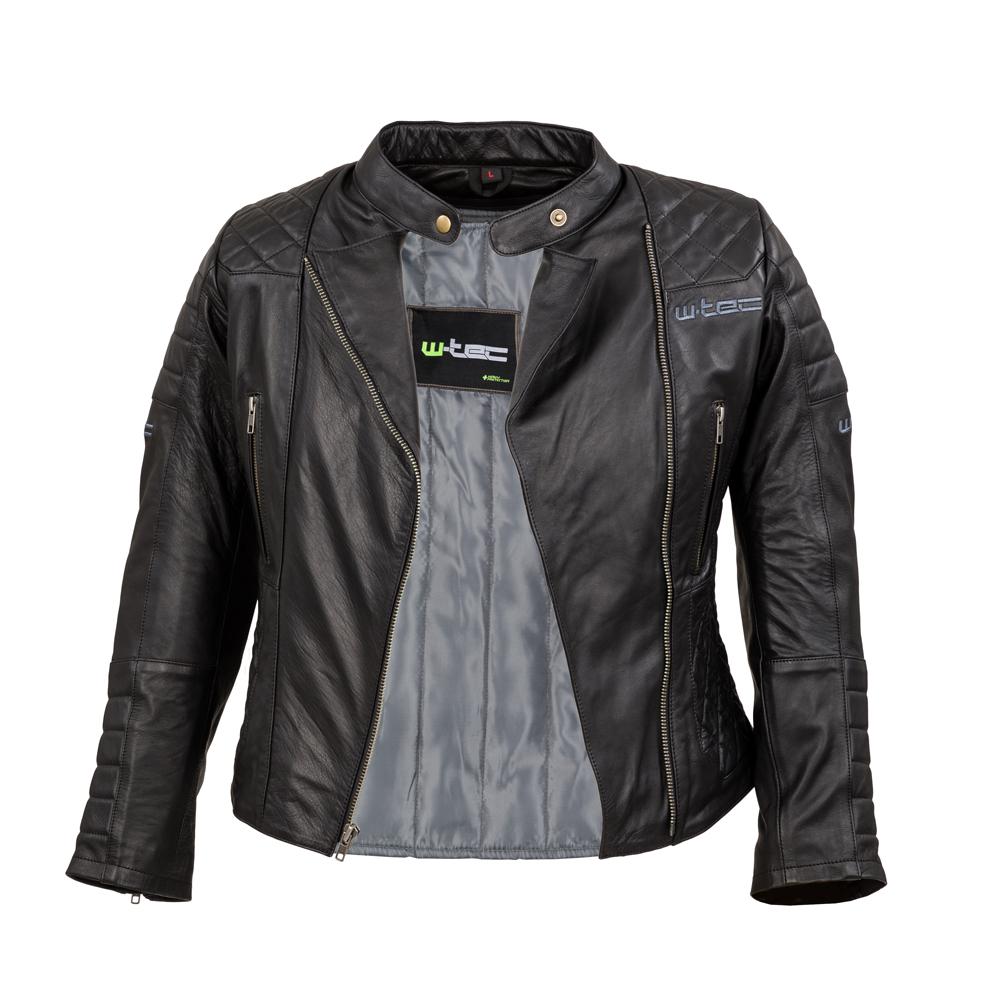 853abfc3bcb11 Damska skórzana kurtka motocyklowa W-TEC Corallia - Czarny. W klasycznym  tzw.