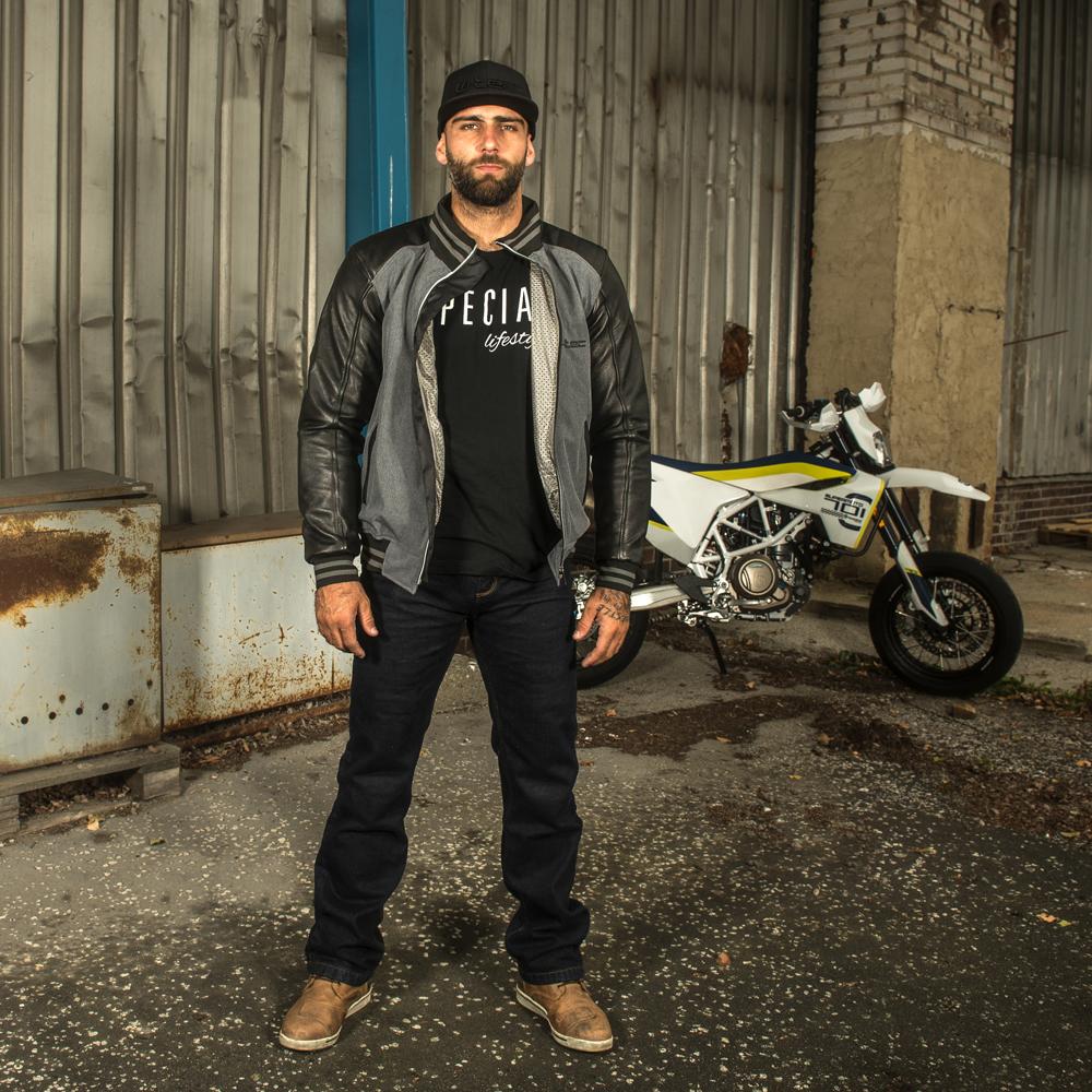 Męska kurtka motocyklowa W TEC Janchee NF 2718 + Prezent za 1 zł: Plecak sportowy worek inSPORTline Bolsier