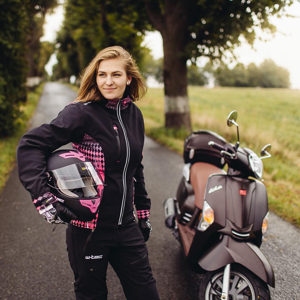 Damskie spodnie motocyklowe softshell W TEC NF 2880 + Prezent za 1 zł: Plecak sportowy worek inSPORTline Bolsier