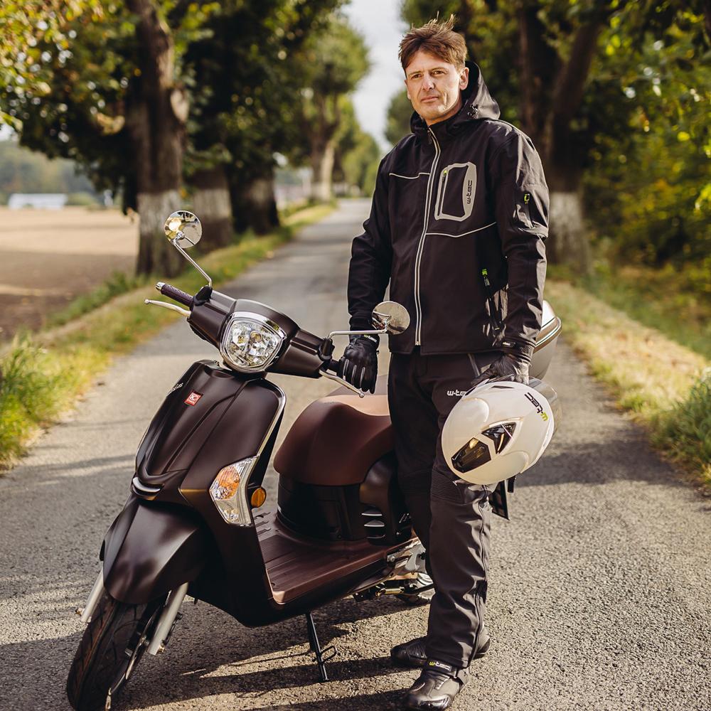 Męskie spodnie motocyklowe soft shell W TEC Guslic NF 2801 + Prezent za 1 zł: Plecak sportowy worek inSPORTline Bolsier