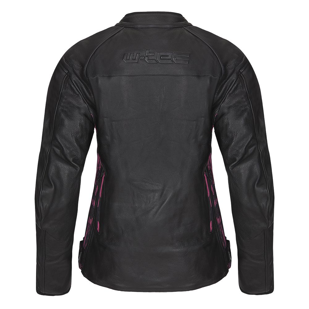 Damska skórzana kurtka motocyklowa W TEC Caronina NF 1174 + Prezent za 1 zł: Plecak sportowy worek inSPORTline Bolsier