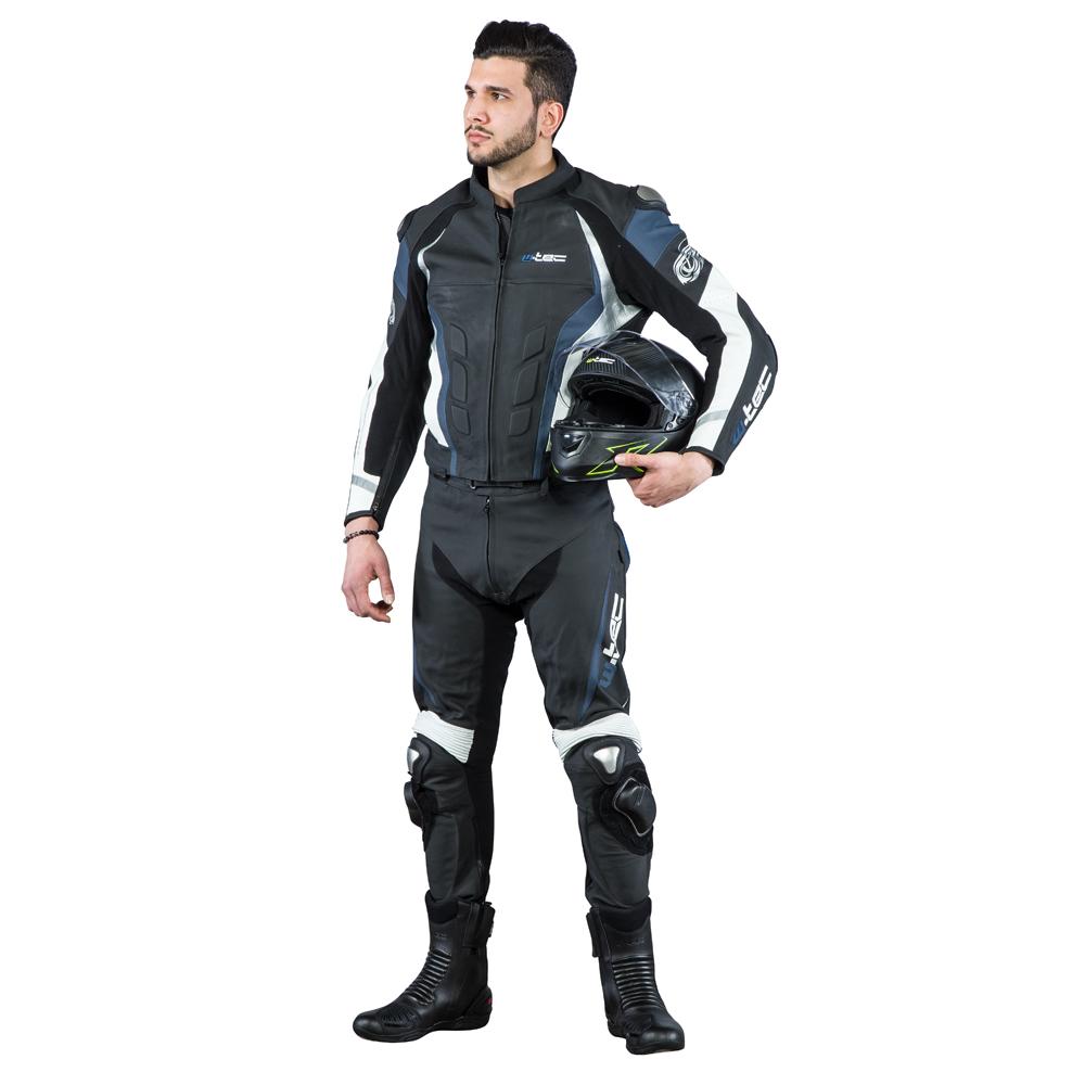 Męska skórzana kurtka motocyklowa W TEC Velocity