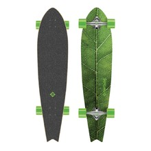"Longboard Street Surfing Fishtail - The Leaf 42"" - srebrny truck"