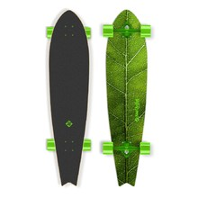 "Deskorolka Longboard Street Surfing Fishtail - The Leaf 42"" - Zielony truck"