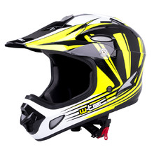 Kask Downhill na rower motor enduro W-TEC FS-605 Allride - Yellow Graphic