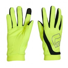 Rękawice do biegania Newline Thermal Gloves Visio - Neonowy