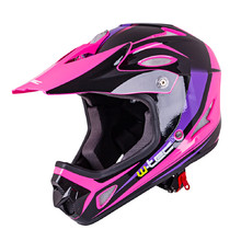 Kask Downhill na rower motor enduro W-TEC FS-605 Allride - Extinction Pink