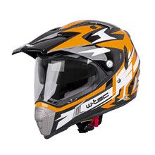 Kask motocyklowy z blendą W-TEC Dualsport - Black-Fluo Orange