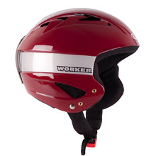 Kask narciarski WORKER Little Gloss - Burgundowy