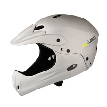 Kask downhillowy W-TEC Downhill - Srebrny