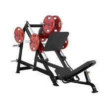 Prasa do nóg Leg Press Steelflex Plateload Line PLDP - Czarno-czerwony