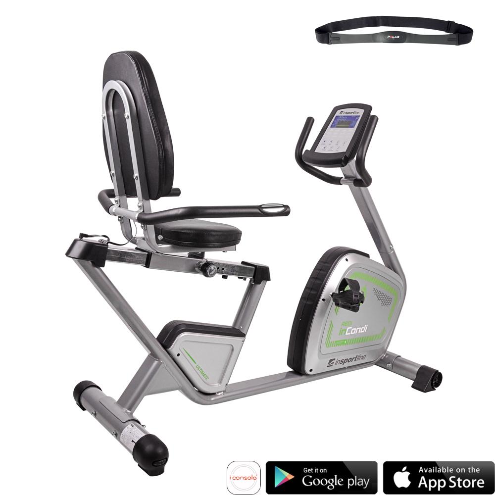 Rower treningowy rehabilitacyjny poziomy inSPORTline inCondi R60i