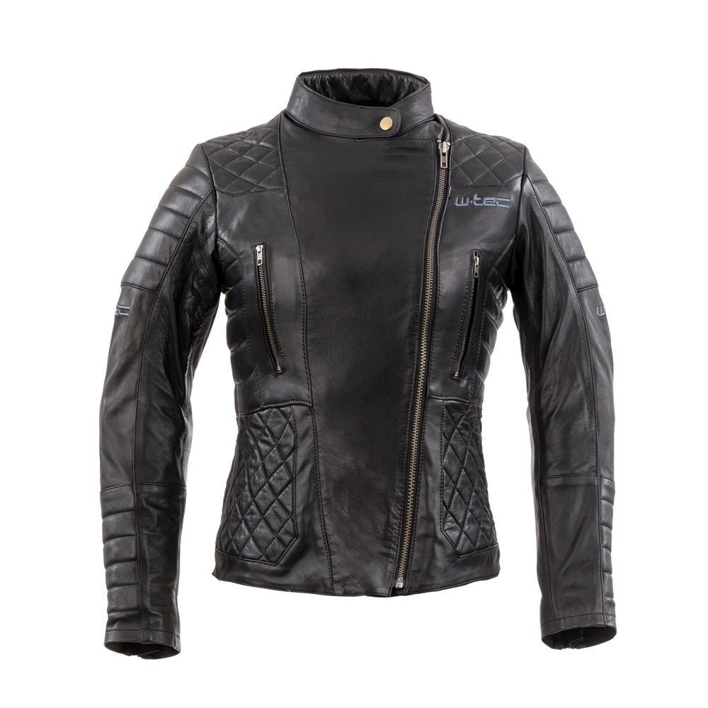 5d4a9ec00bc25 Damska skórzana kurtka motocyklowa W-TEC Corallia - Czarny - inSPORTline