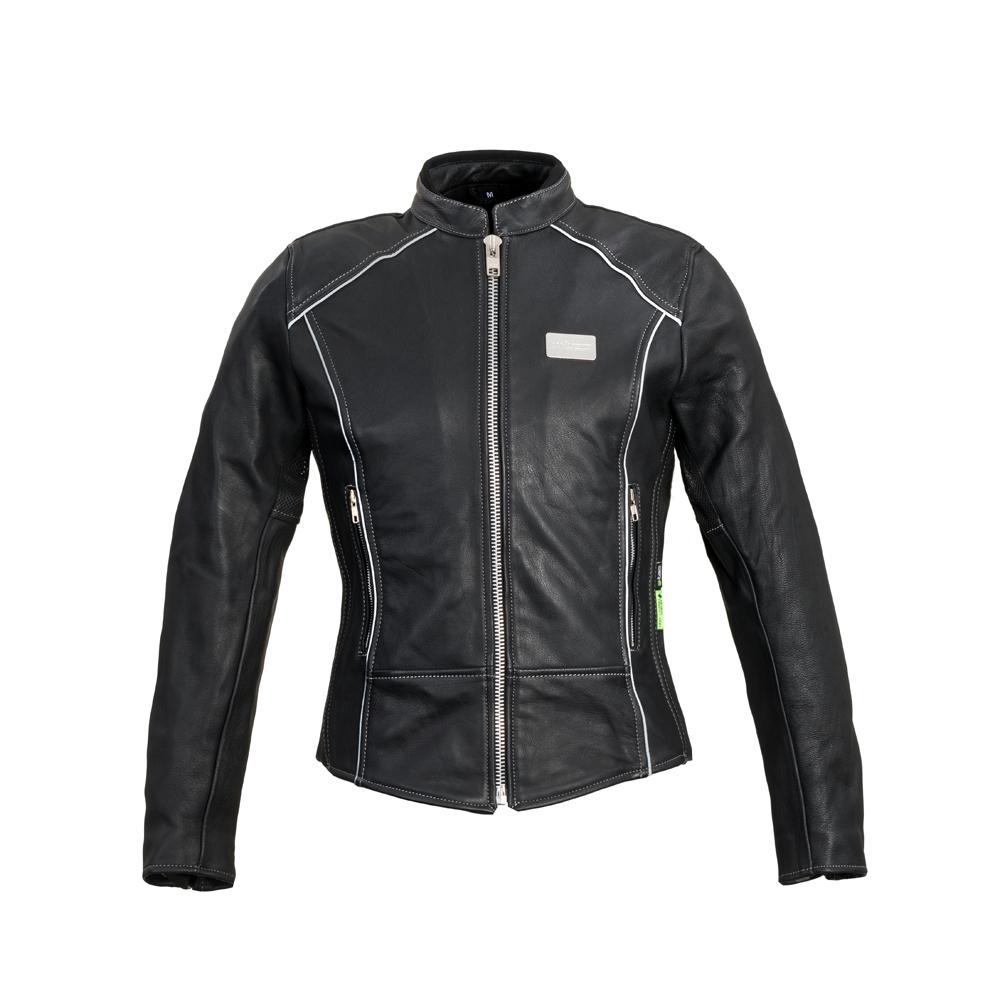 Damska skórzana kurtka motocyklowa W TEC Hagora + Prezent za 1 zł: Plecak sportowy worek inSPORTline Bolsier