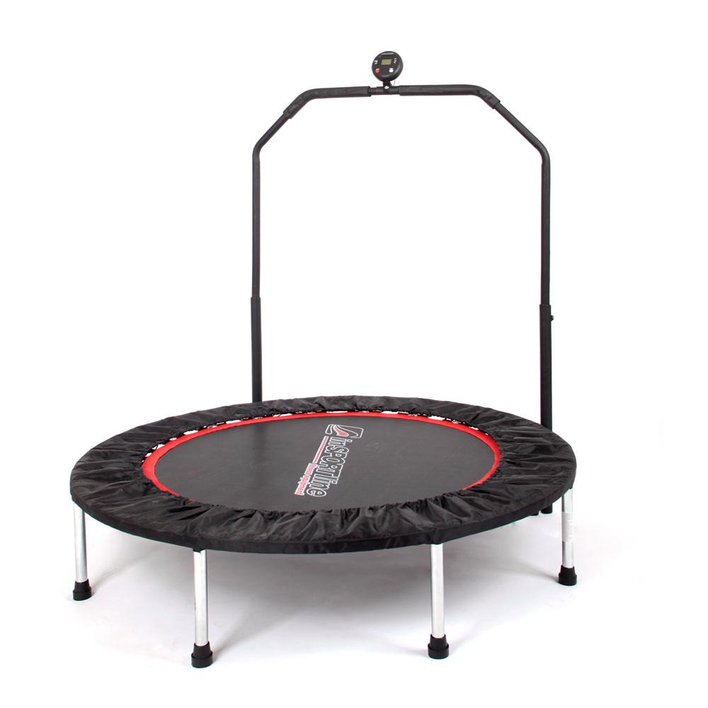 Trampolina fitness z poręczą  inSPORTline PROFI Digital 140 cm