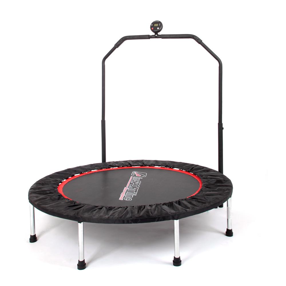 Trampolina fitness z poręczą inSPORTline PROFI Digital 122 cm